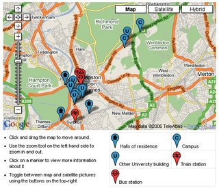 Kingston University Map 2006
