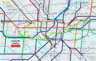 Quick Tube Map by Frequency of Train