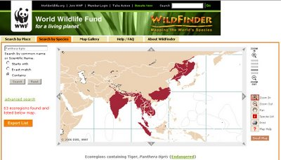 WildFinder from World Wildlife Fund