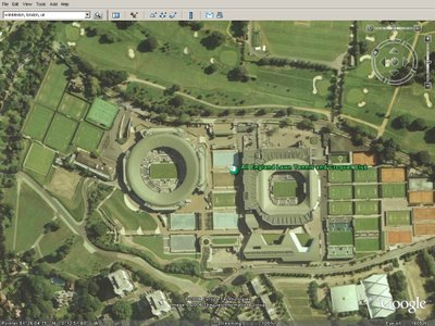Wimbledon in Google Earth/Maps