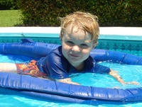Thomas in the pool -- July 23, 2005