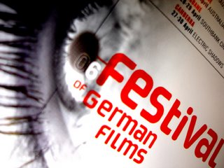 german film festival flyer