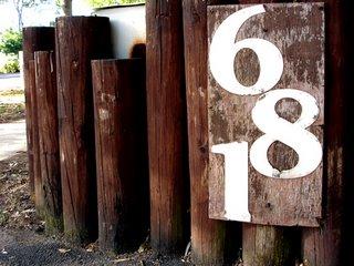 681 mailbox sign