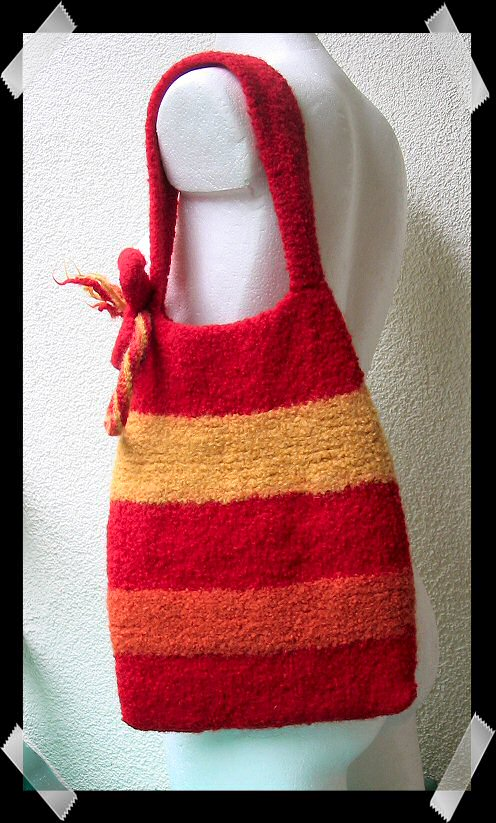 Knitted Bags Free Patterns : FriendSheep: FREE PATTERNS - Felted Knitting Bag