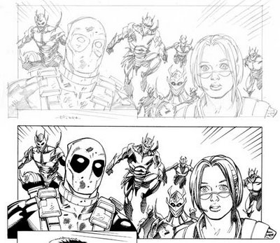 Cable/Deadpool #26, panel 1.