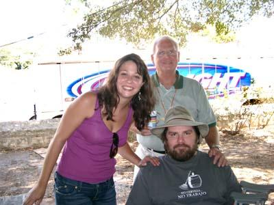 Jessica, Gary, and me (Hint: I'm the fat guy)