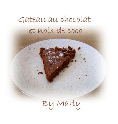 marly 39 s blog gateau chocolat et noix de coco. Black Bedroom Furniture Sets. Home Design Ideas