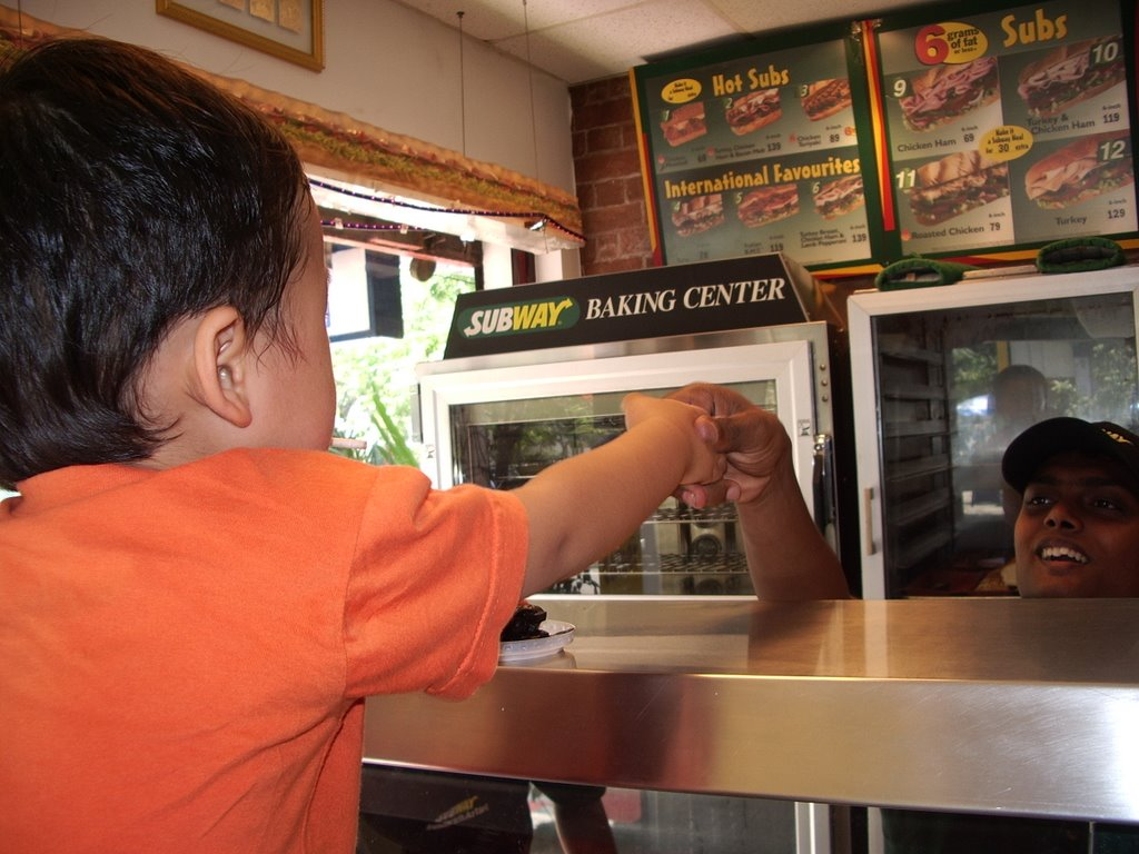 how to order in subway india