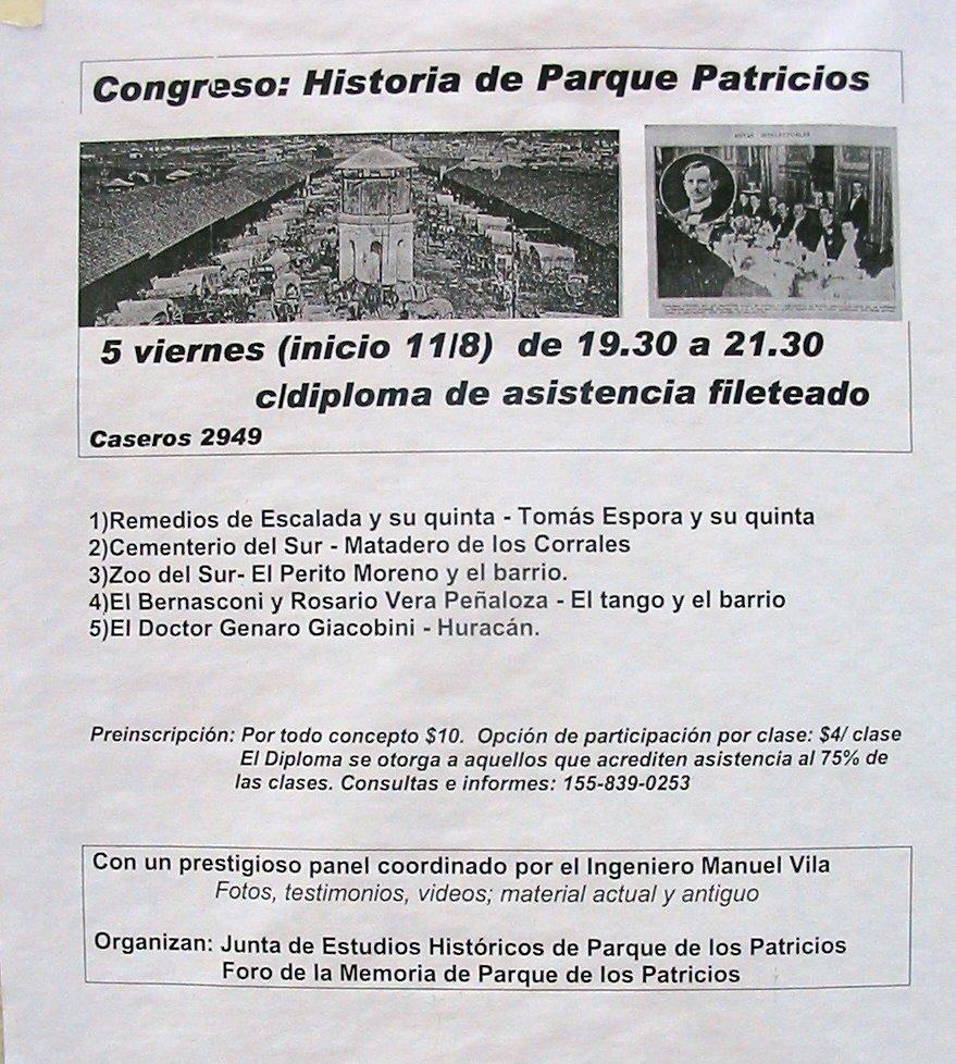 Afiche del Foro de la Memoria y Junta de Estudios Históricos