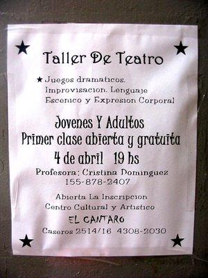 Taller de teatro en El Cántaro