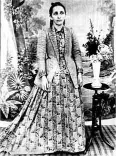 Bahiyyih Khanum; foto tirada em 1895.