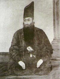 Mirza Buzurg, o pai de Bahá'u'lláh. Ilustração datada de 1820