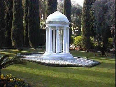 Túmulo de Bahiyyih Khanum nos jardins bahá'ís, em Haifa