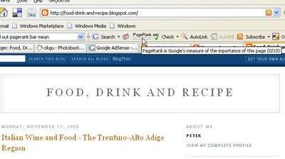 Google toolbar PageRank icon