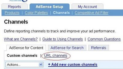 AdSense for Content URL channel