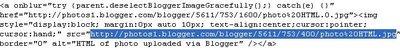 HTML of photo uploaded via Blogger