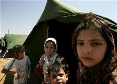 refugee camp Baghdad