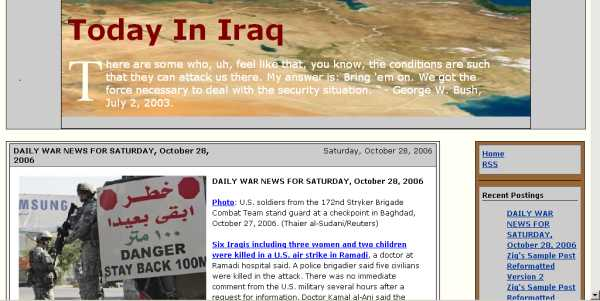 Today In Iraq Version 2 Screen Shot