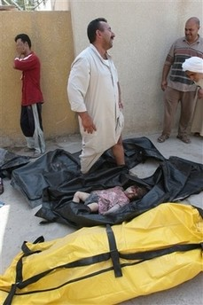 Child killed in US air strike on house in Baqouba July 21st 2006