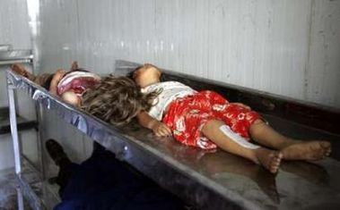 Two girls killed during Saturday July 8 2006 bomb attack at the al-Zahra Shi'ite mosque Baghdad