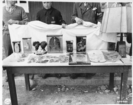 Objet's D'Art made of human skin for Ilse Koch Buchenwald concentration camp
