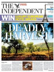 UK Independent Front Page Sept 18 2006