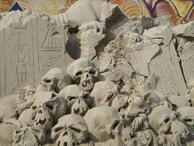A lovely sculpture of skulls to make Major General Caldwell happy