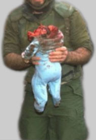 Lebanese toddler killed israeli bombing.