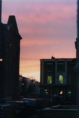 Sunset over Foulden Road, Stoke Newington, London N16
