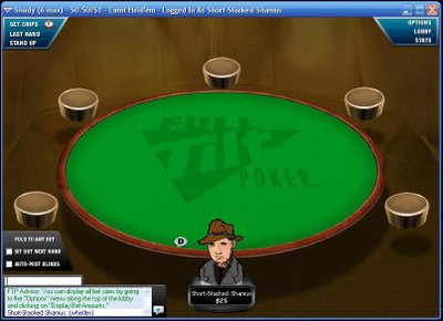 Shamus at Full Tilt Poker, waiting for a game . . . (click on pic for larger view)