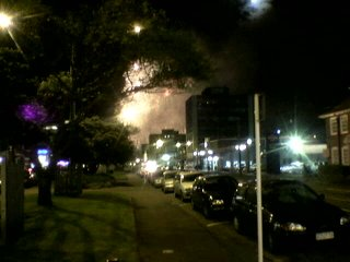 Picture of Fireworks taken with the camera on my phone