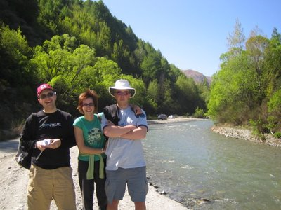 Me, Lizzy and Tim at the river where the dark riders get washed away in Fellowhsip of the Ring