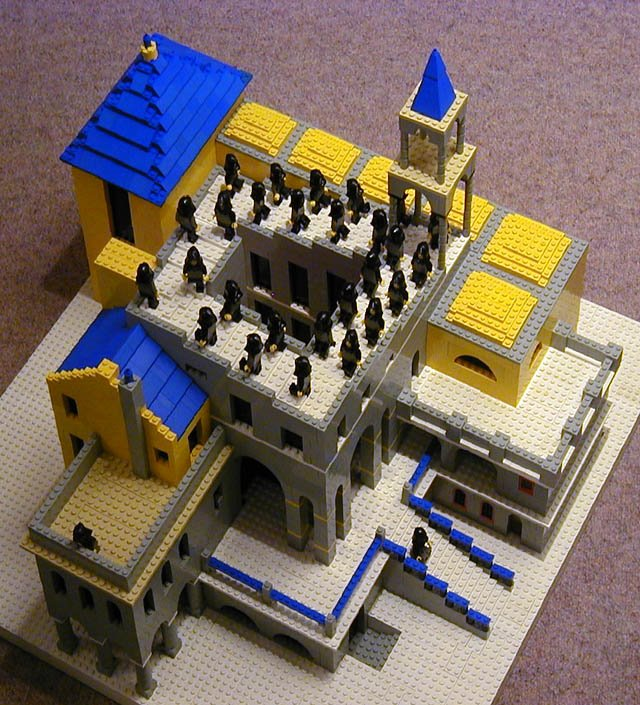 Lego Escher Illusion