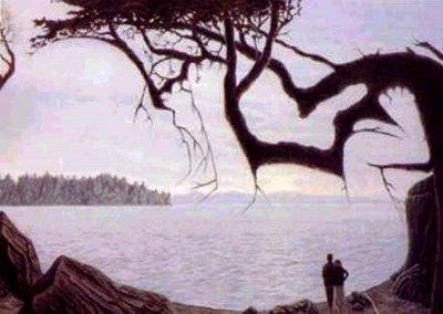 Träd vars grenar formar en baby.