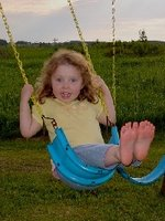 The swing and slide provide hours of fun!