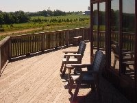 View of Seascape Chalet Deck