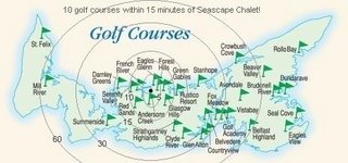 10 golf courses within 15 min; 20 courses within 30 min