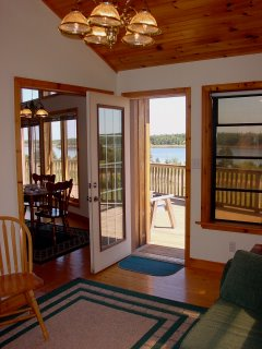 Cottage sunroom provides relaxing area for appreciating views of PEI north shore