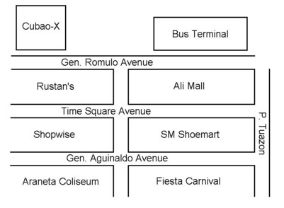 cubao x map directions