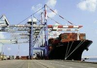 ZIM California unloading cargo