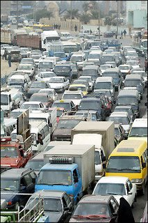 Gas lines form in Baghdad as gas prices rise.