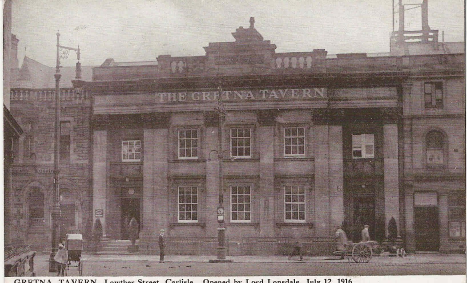 Carlisle postcards scotland road gretna tavern aerial for 67 st pauls terrace spring hill