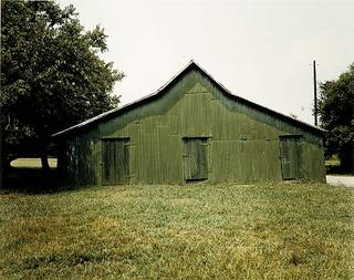 William Christenberry, Green Warehouse--Newbern, Alabama, photograph, 1978