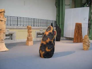 David Nash, wood pieces, Galerie Lelong