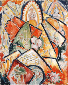 Marsden Hartley, Musical Theme (Oriental Symphony), 1912-13. The Rose Art Museum, Brandeis University, Waltham, Massachusetts