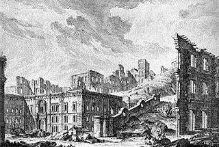 J. P. Le Bas, Praça da Patriarcal après le tremblement de terre de 1755, in Recueil des plus belles ruines de Lisbonne, Paris, 1757
