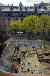 Excavation of houses from the Roman Empire, archeological site on the Curie campus, Paris, photo by L. de Cargouët/Inrap