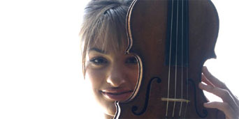 Nicola Benedetti, b. 1987, and her violin, made in Venice by Pietro Guarneri, 1751