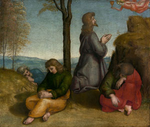 Raphael, Colonna altarpiece, predella panel, Agony in the Garden, Metropolitan Museum of Art