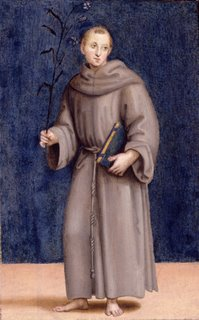 Raphael, Colonna altarpiece, predella panel, Saint Anthony of Padua, Dulwich Picture Gallery